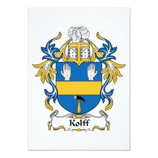 """Escudo de la familia de Kolff Invitación 5"""" X 7"""""""