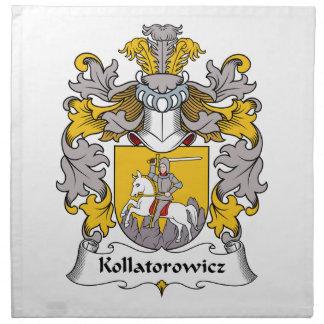 Escudo de la familia de Kollatorowicz Servilletas De Papel