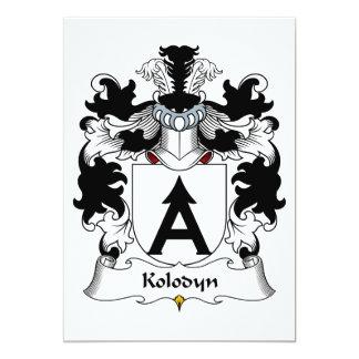 """Escudo de la familia de Kolodyn Invitación 5"""" X 7"""""""