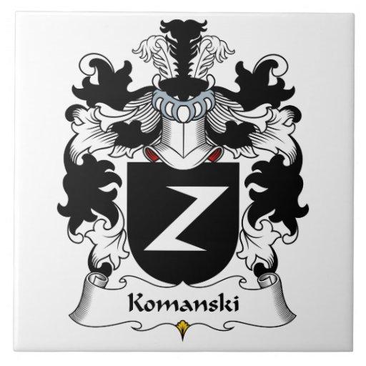 Escudo de la familia de Komanski Azulejos Ceramicos