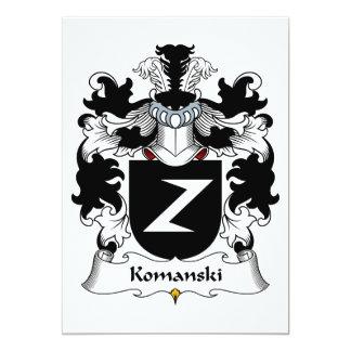 """Escudo de la familia de Komanski Invitación 5"""" X 7"""""""