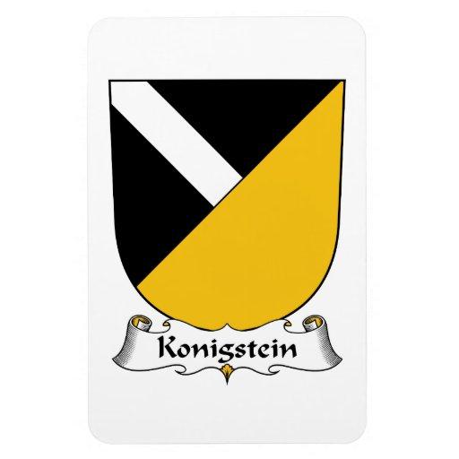 Escudo de la familia de Konigstein Imán De Vinilo
