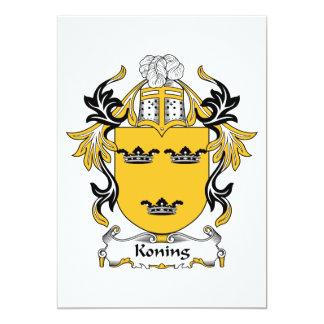 """Escudo de la familia de Koning Invitación 5"""" X 7"""""""