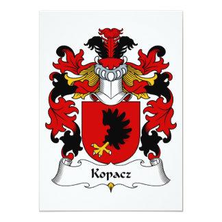 """Escudo de la familia de Kopacz Invitación 5"""" X 7"""""""