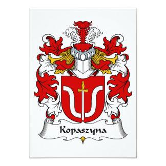 """Escudo de la familia de Kopaszyna Invitación 5"""" X 7"""""""