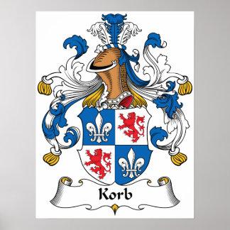 Escudo de la familia de Korb Poster