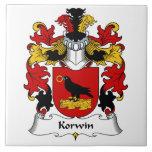 Escudo de la familia de Korwin Azulejos Cerámicos