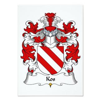 """Escudo de la familia de Kos Invitación 5"""" X 7"""""""