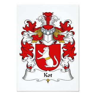 """Escudo de la familia de Kot Invitación 5"""" X 7"""""""