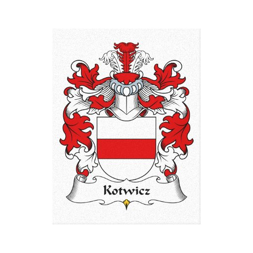 Escudo de la familia de Kotwicz Impresiones En Lienzo Estiradas