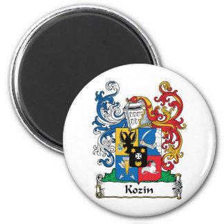 Escudo de la familia de Kozin Imán Redondo 5 Cm
