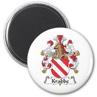 Escudo de la familia de Krabbe Imanes Para Frigoríficos