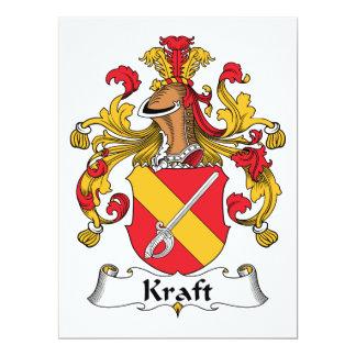 """Escudo de la familia de Kraft Invitación 6.5"""" X 8.75"""""""