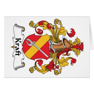 Escudo de la familia de Kraft Tarjeta De Felicitación