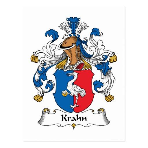 Escudo de la familia de Krahn Postal