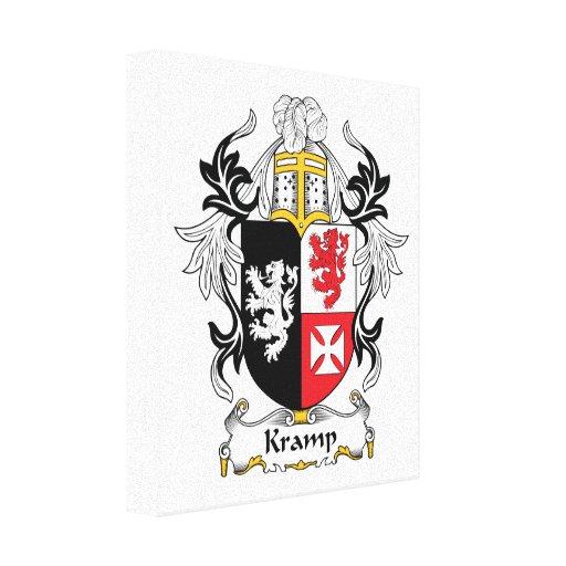Escudo de la familia de Kramp Impresión En Lona Estirada