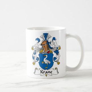 Escudo de la familia de Krane Taza De Café
