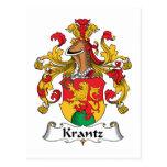 Escudo de la familia de Krantz Tarjeta Postal