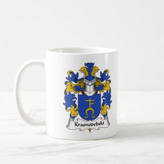 Escudo de la familia de Krasnodebski Taza Básica Blanca