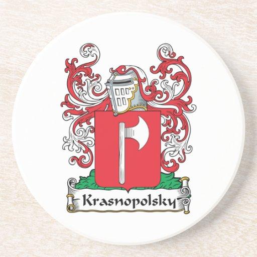 Escudo de la familia de Krasnopolsky Posavasos Diseño