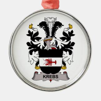 Escudo de la familia de Krebs Adorno Redondo Plateado