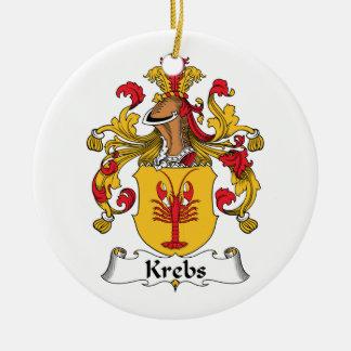 Escudo de la familia de Krebs Adorno Redondo De Cerámica