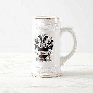 Escudo de la familia de Krebs Tazas De Café