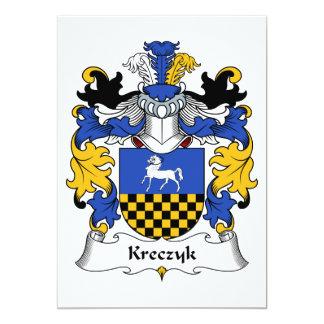 """Escudo de la familia de Kreczyk Invitación 5"""" X 7"""""""