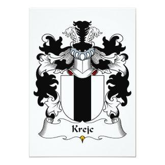 """Escudo de la familia de Krejc Invitación 5"""" X 7"""""""