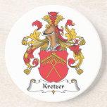 Escudo de la familia de Kretzer Posavasos Personalizados
