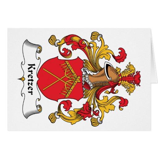 Escudo de la familia de Kretzer Tarjeta
