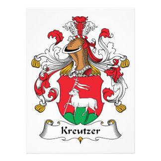 Escudo de la familia de Kreutzer Invitaciones Personalizada