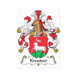 Escudo de la familia de Kreutzer Lona Envuelta Para Galerías