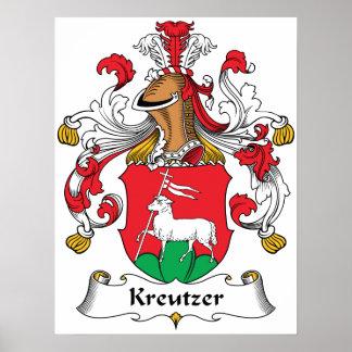 Escudo de la familia de Kreutzer Posters