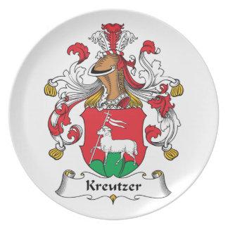 Escudo de la familia de Kreutzer Plato