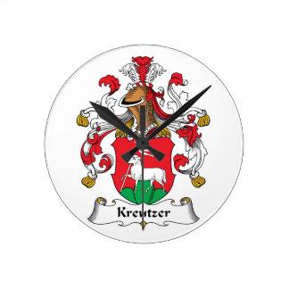 Escudo de la familia de Kreutzer Reloj