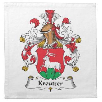 Escudo de la familia de Kreutzer Servilletas De Papel