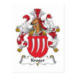Escudo de la familia de Kroger Tarjeta Postal