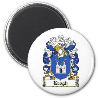 Escudo de la familia de Krogh Imán Redondo 5 Cm