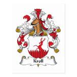 Escudo de la familia de Kroll Tarjetas Postales
