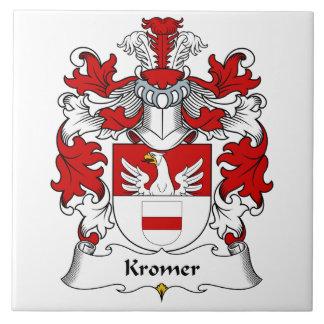 Escudo de la familia de Kromer Azulejo Cuadrado Grande