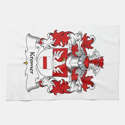 Escudo de la familia de Kromer Toalla De Mano
