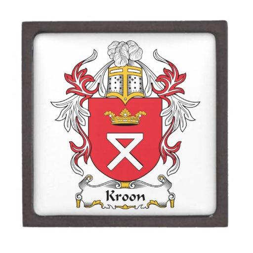 Escudo de la familia de Kroon Cajas De Joyas De Calidad