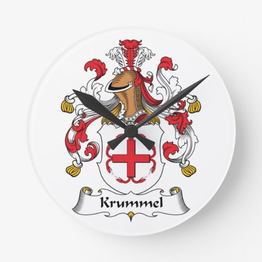 Escudo de la familia de Krummel Relojes De Pared