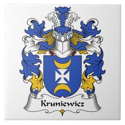 Escudo de la familia de Kruniewicz Azulejo Cuadrado Grande