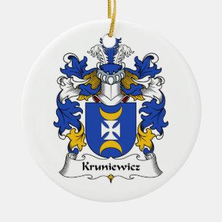 Escudo de la familia de Kruniewicz Ornamento De Navidad