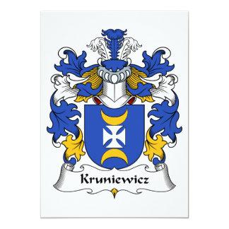 Escudo de la familia de Kruniewicz Invitación 12,7 X 17,8 Cm