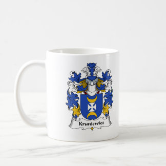 Escudo de la familia de Kruniewicz Taza De Café