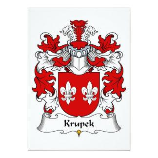"""Escudo de la familia de Krupek Invitación 5"""" X 7"""""""