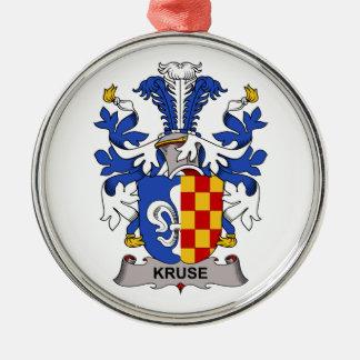 Escudo de la familia de Kruse Adorno Navideño Redondo De Metal